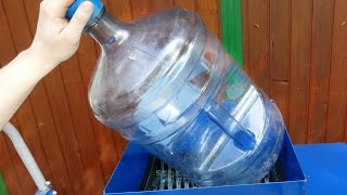 POWERFUL SHREDDER: SHREDDING A HARD POLYCARBONATE BOTTLE - EXPERIMENT