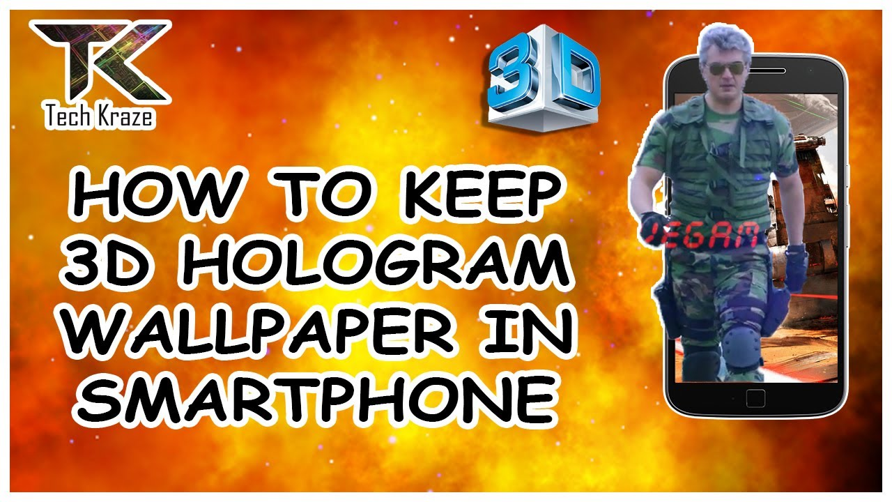 How to create 3d hologram wallpaper in smartphone youtube - How to make 3d hologram wallpaper ...