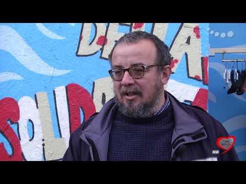 Il muro della solidarietà a Bari
