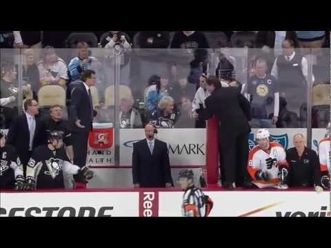 NHL Brawl: Penguins vs Flyers After Joe Vitale Destroys Danny Briere with an Open-Ice Hit – NBC