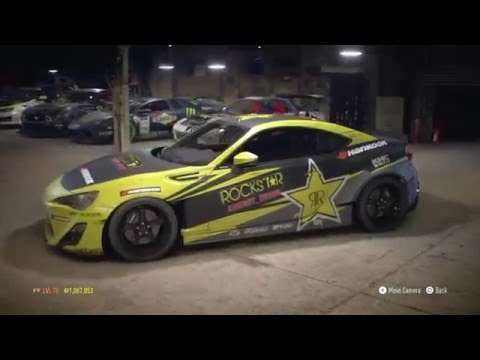 Need for Speed 2015 (PS4) - Building Fredric Aasbø Rockstar energy drink/Hankook decal on a FRS