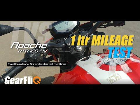TVS Apache RTR 160 4V 1 Ltr Mileage Test | हिंदी में