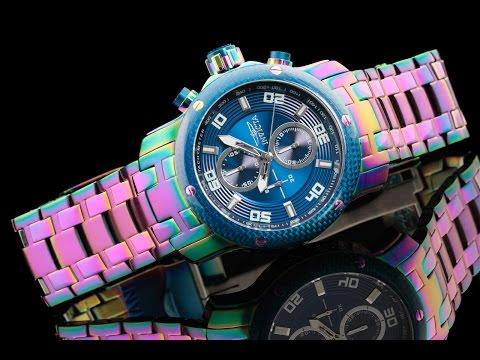 Invicta 24158 48mm Pro Diver Scuba Rainbow Plated Quartz Chronograph Bracelet Watch