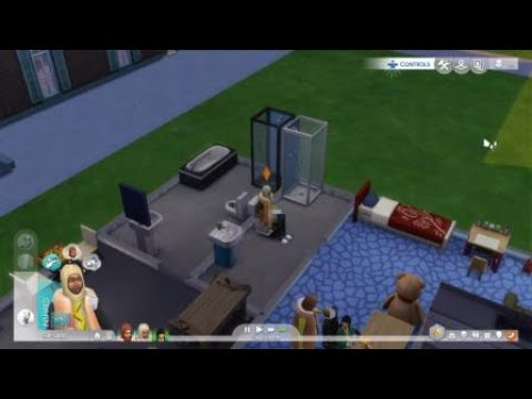 The Sims 4 (PS4) - Sim gets stuck on toilet!