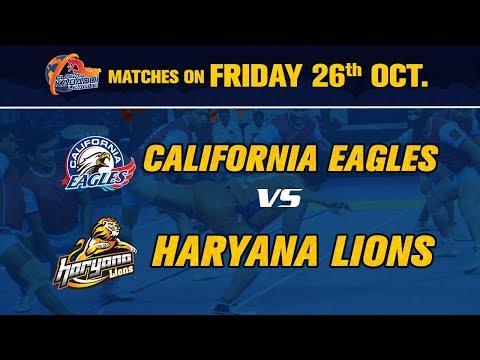 Global Kabaddi League 2018   California Eagles V/S Haryana Lions