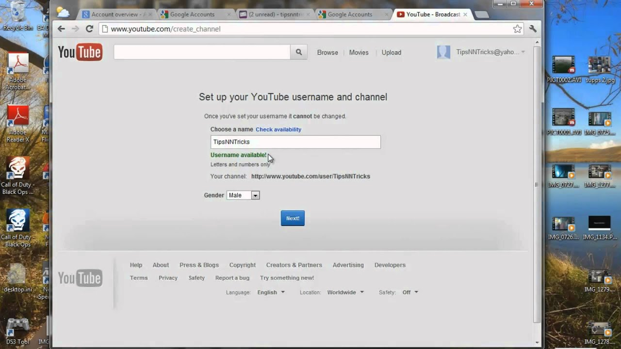 Youtube Email Adresse