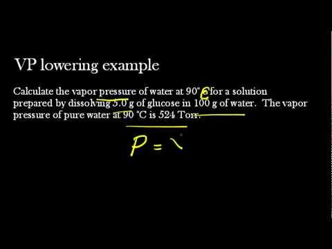 Vapor Pressure Lowering Worked Example