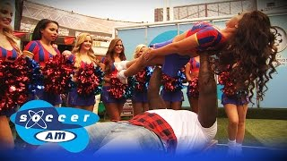 How to bench press a cheerleader with Adebayo Akinfenwa