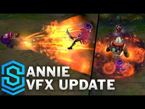 Annie Visual Effect Update Comparison - All Skins | League Of Legends