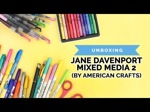 Jane Davenport Mixed Media 2 Art Supplies (Unboxing, American Crafts, Haul, Swatches)
