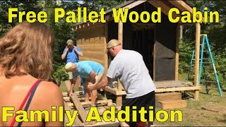 Hunting Cabin Built With Free Pallet Wood Pt.6 - Mini Cabin