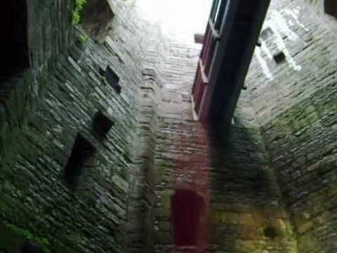 American inside a Welsh castle.
