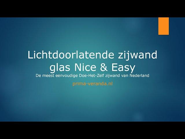 Opmeetinstructie Lichtdoorlatende zijwand glas Nice & Easy