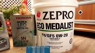 заморозка масла для  хонды(Honda Ult, Idemitsu Zepro Eco Medalist)