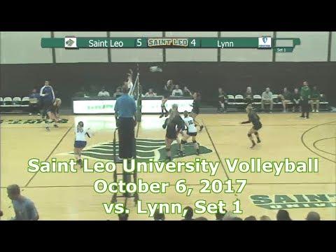 Saint Leo University Volleyball, October 7, 2017 vs. Lynn, Set 1