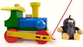 Мультфильм про Кротика - Собираем поезд - Учим цвета