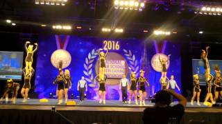 Live Oak High cheer competes in semis 2016 NHSCC