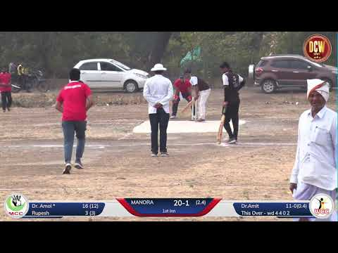 MANORA (MCC) VS WASHIM CRITICAL CARE, (Match 2), WASHIM MEDICO PREMIER LEAGUE 2020 - DAY 02