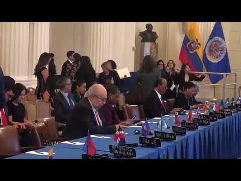 Gustavo Tarré Briceño ocupó por primera vez el puesto de Venezuela en la OEA #17Abr