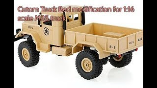 WPL Military Truck Custom Bed Tutorial
