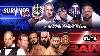 Wr3d survivor series raw vs smackdown 10of10 elimination match