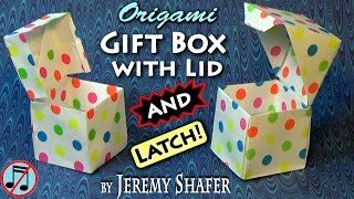 Origami Giftbox with Lid AND Latch!
