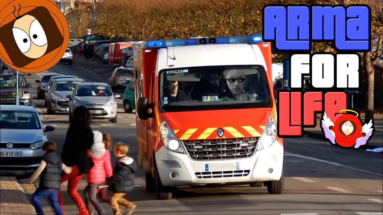pompier life homme arm accident de la route arma for life youtube. Black Bedroom Furniture Sets. Home Design Ideas