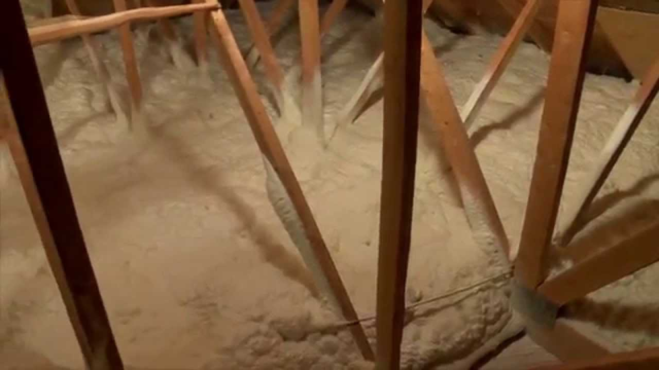 Spray Foam Icynene Attic Insulation 4 Installation Of