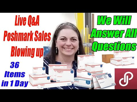 Live Q&A How To Get Massive Poshmark Sales. We Share all our Secrets. Online Reselling
