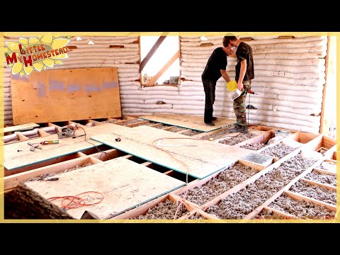 Ceiling Tiles Insulation Subfloor Underground Earthbag Building