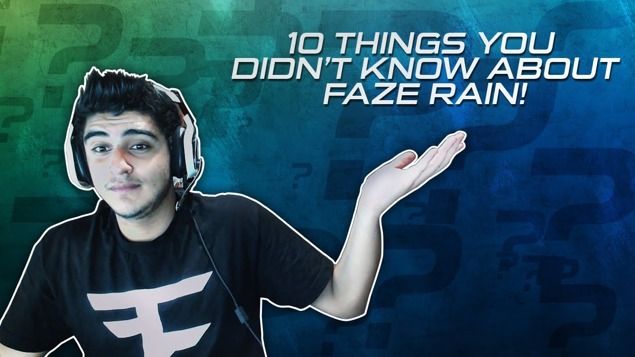 10 Things You Didn't Know About FaZe Rain! - YouTube