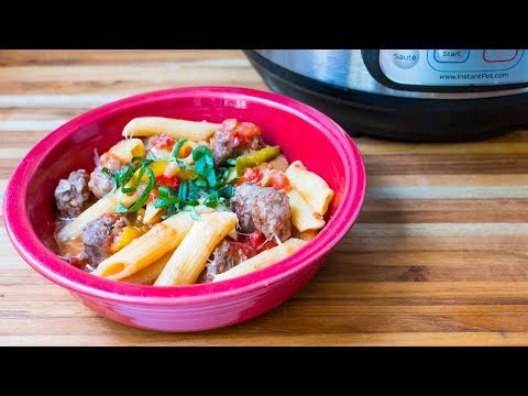 Pressure Cooker Penne with Sausage and Peppers