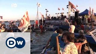 سكان البندقية يحتجون على السياحة غير المنظمة في مدينتهم | الأخبار