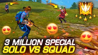 3M Special Solo Vs Squad Free Fire Game Play in GrandMaster - Unexpected Ending || Tonde Gamer