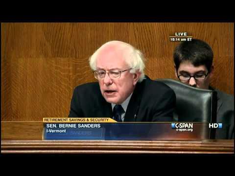 Social Security Senate Hearing (1) Tom Harkin Bernie Sanders