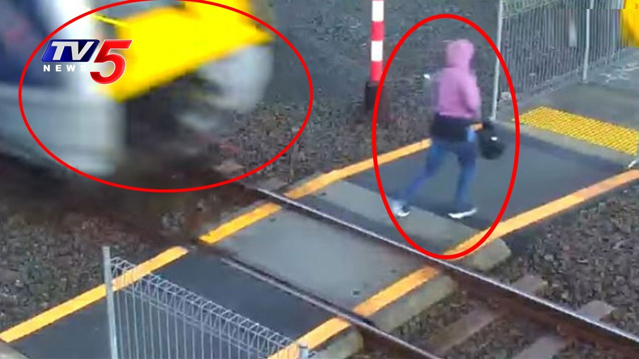 Caught on CCTV | Woman Narrowly Avoids oncoming Train at  New Zealand | TV5 News