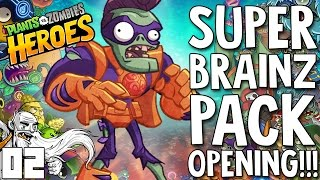 "Plants Vs Zombies Heroes Gameplay Part 2 - ""SUPER BRAINZ MEGA PACK OPENING"""