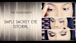 EASY Smokey Eye TUTORIAL for BEGINNERS + False Lashes Application! Thumbnail