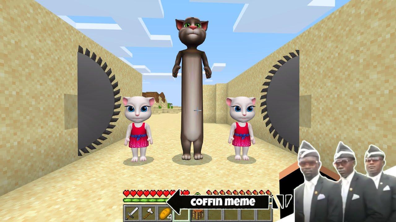 Don't Saw the Longest Talking Tom in Minecraft - Coffin Meme