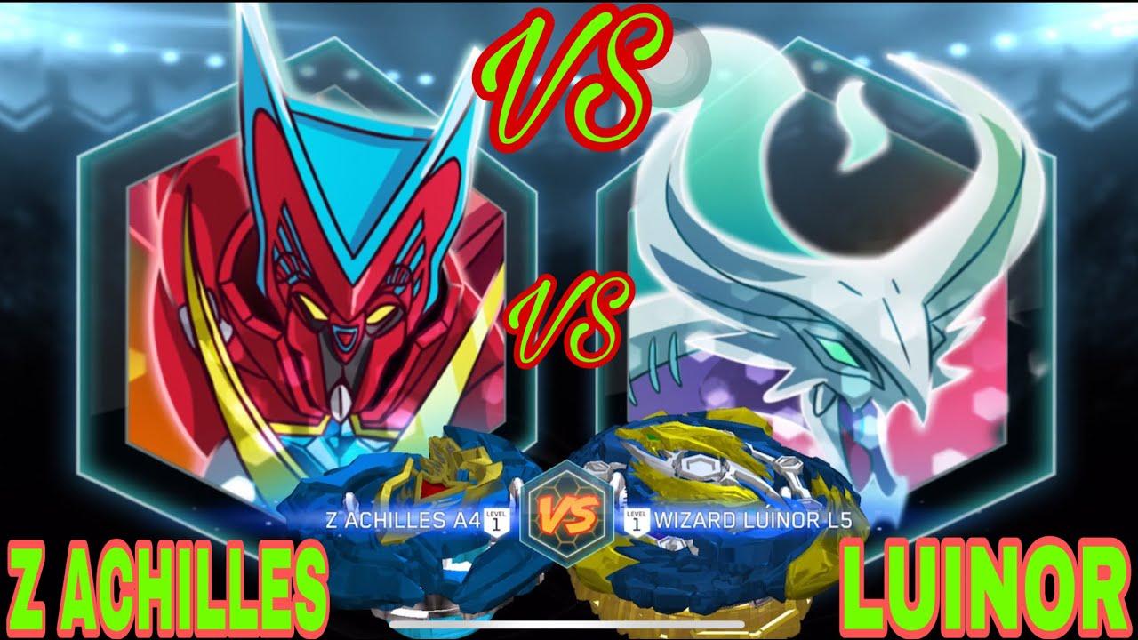 VÒNG XOAY THẦN TỐC-Z ACHILLES VS LUINOR-GAME CON QUAY BEYBLADE BURST  RISE-BINI TV - YouTube