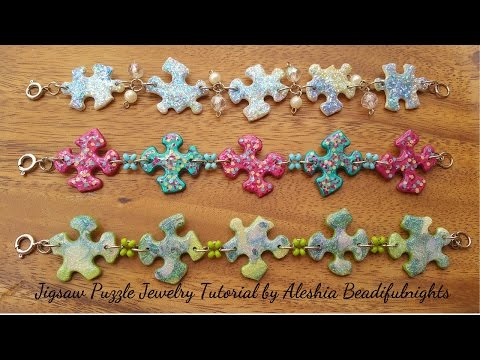 Jigsaw Puzzle Jewelry Tutorial