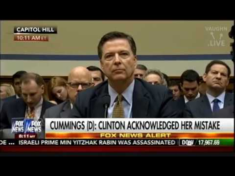 James Comey - July 7, 2016, Full 4 1/2 Hour Testimony of FBI Director Re: Clinton E-Mails