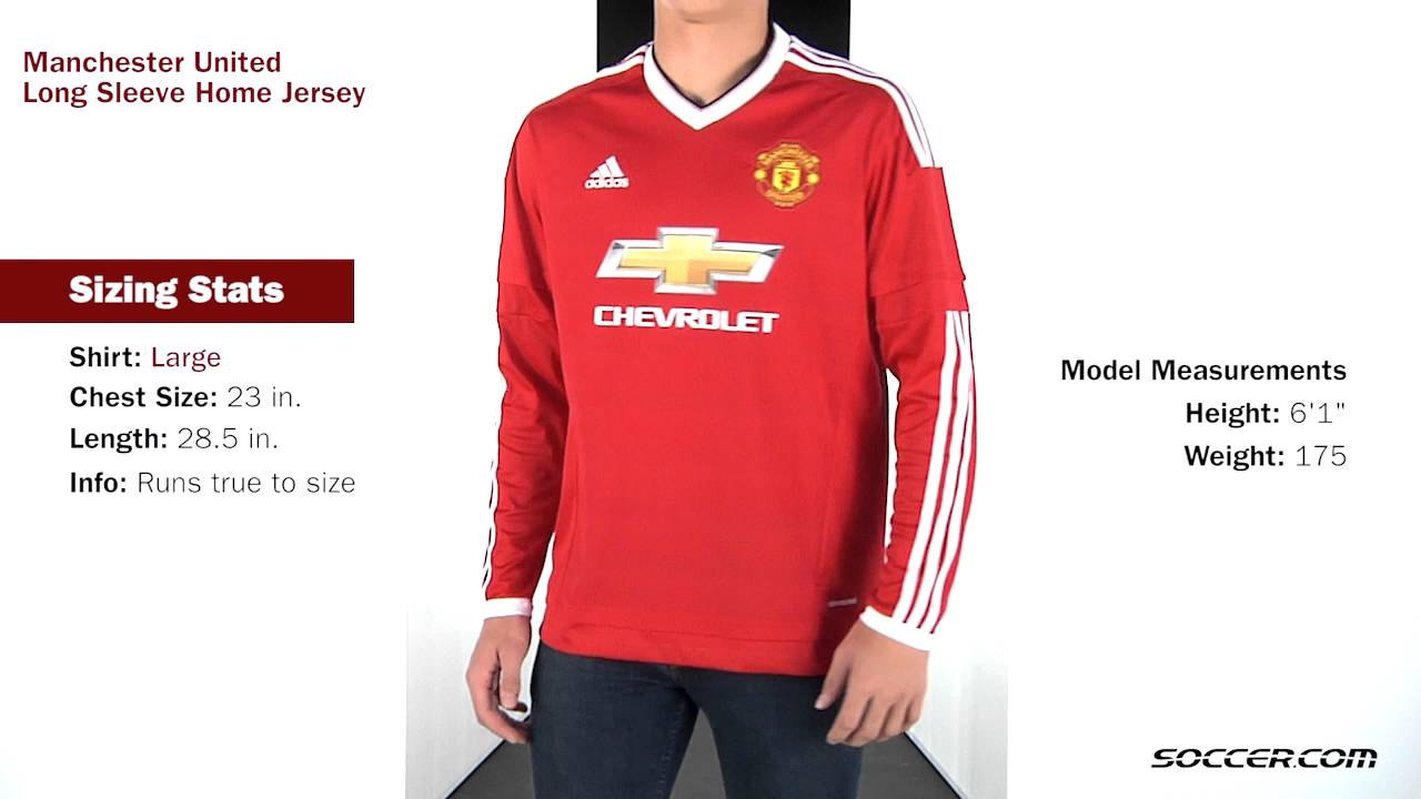 separation shoes 98c72 63c5d adidas Manchester United Long Sleeve Home Jersey