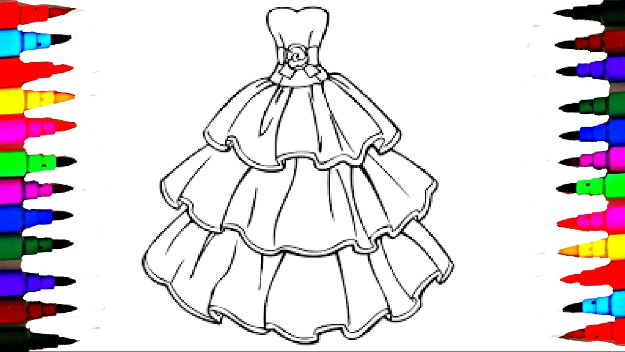 Barbie Glamour Dress 2 BEST LEARNING Coloring Book l Page ...