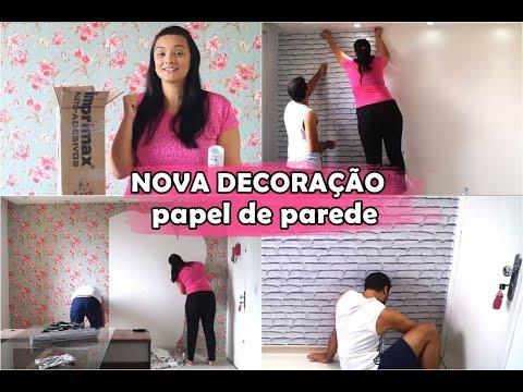 NOVA DECORAÇÃO DA SALA DE JANTAR | PAPEL DE PAREDE DECORAMAX com Minii Rosa