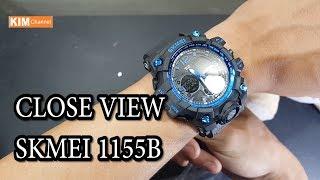 [CCDH] Cận cảnh đồng hồ skmei 1155B phiên bản xanh blue