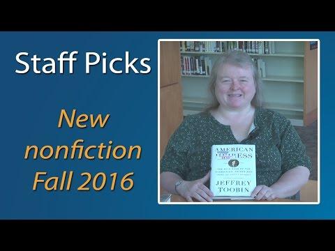 Staff Picks with Terri - October 2016
