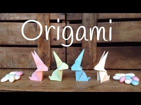 Origami fácil para niños - Cómo hacer conejitos de papel