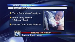 Amber Alert issued for 8-month-old baby taken from Gallup