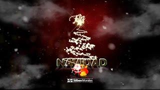Postal y Gif animado Feliz Navidad con Photoshop -  Obsequio Pack de pinceles